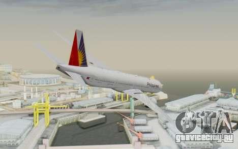 Boeing 777-300ER Philippine Airlines для GTA San Andreas вид слева