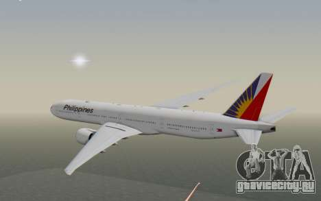 Boeing 777-300ER Philippine Airlines для GTA San Andreas вид справа