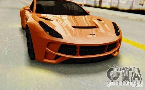 GTA 5 Dewbauchee Seven 70 IVF для GTA San Andreas вид изнутри