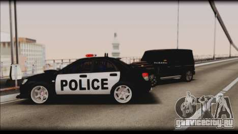 Subaru Impreza WRX STi Police Drift для GTA San Andreas вид снизу