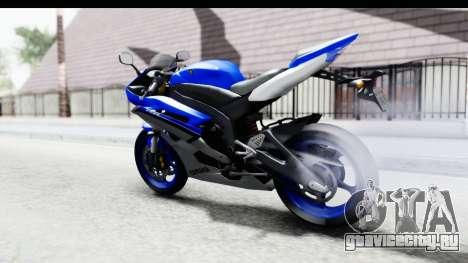 Yamaha YZF-R6 2006 with 2015 Livery для GTA San Andreas вид сзади слева