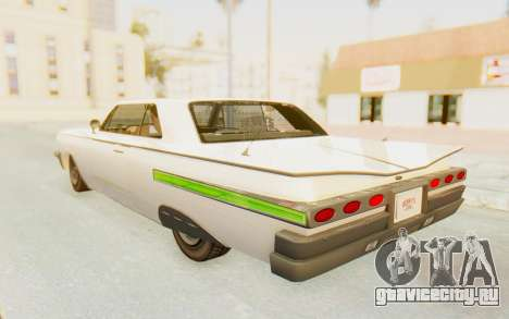 GTA 5 Declasse Voodoo Alternative v1 PJ для GTA San Andreas вид сверху