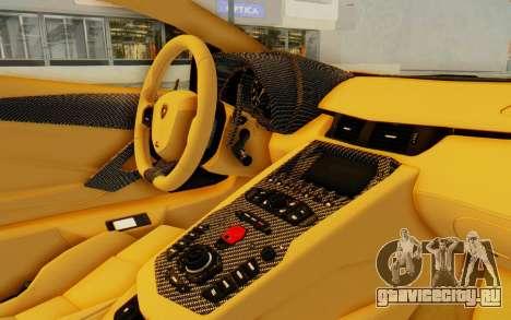 Lamborghini Aventador LP700-4 DMC для GTA San Andreas вид изнутри
