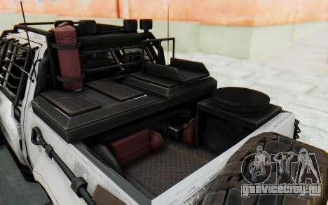 Toyota Hilux Technical MNU для GTA San Andreas вид сзади