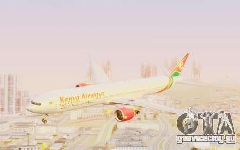Boeing 777-300ER Kenya Airways для GTA San Andreas вид сзади слева