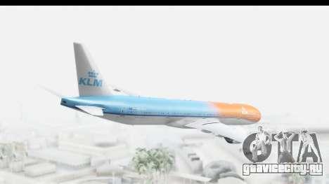 Boeing 777-300ER KLM Orange Pride для GTA San Andreas вид слева