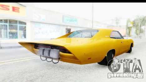 Dodge Charger 1969 Max Speed для GTA San Andreas вид сзади слева