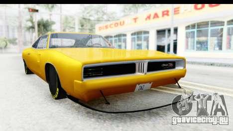 Dodge Charger 1969 Max Speed для GTA San Andreas вид справа