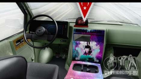 Chevrolet Astro Stance для GTA San Andreas вид сзади