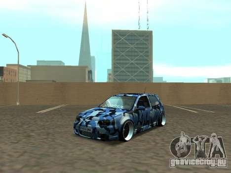 Гольф-Стойка Фольксваген МК4 Р32 для GTA San Andreas вид слева