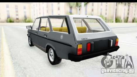Fiat 131 Panorama для GTA San Andreas вид сзади слева