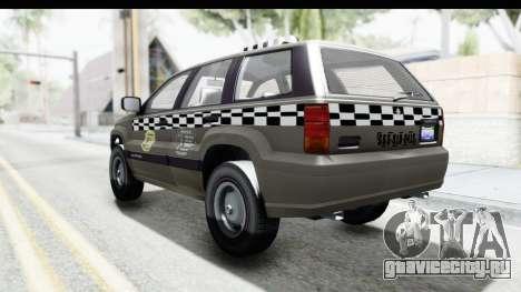 GTA 5 Canis Seminole Taxi Saints Row 4 Retro для GTA San Andreas вид слева