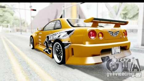 NFSU Eddie Nissan Skyline для GTA San Andreas вид слева