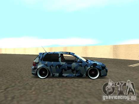 Гольф-Стойка Фольксваген МК4 Р32 для GTA San Andreas вид справа
