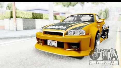NFSU Eddie Nissan Skyline для GTA San Andreas