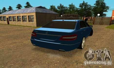 Mercedes Benz E500 W212W для GTA San Andreas вид сзади слева