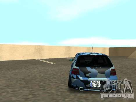 Гольф-Стойка Фольксваген МК4 Р32 для GTA San Andreas вид изнутри