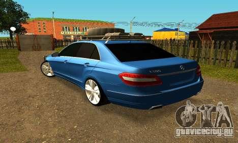 Mercedes Benz E500 W212W для GTA San Andreas вид слева
