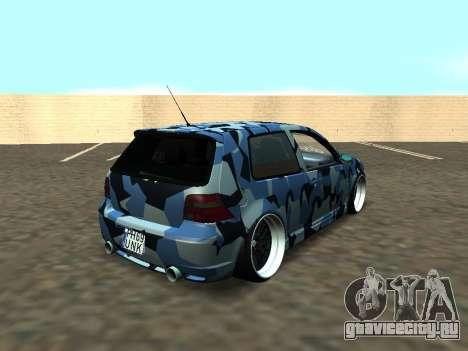 Гольф-Стойка Фольксваген МК4 Р32 для GTA San Andreas вид сбоку
