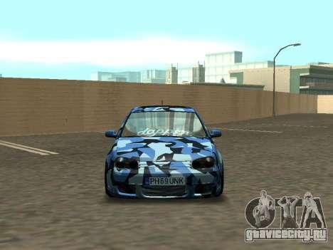 Гольф-Стойка Фольксваген МК4 Р32 для GTA San Andreas вид сзади