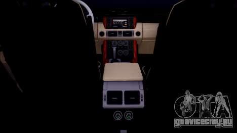 Land Rover Range Rover III (Pontorezka) для GTA San Andreas вид изнутри