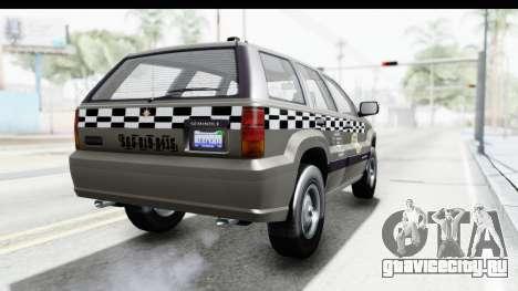 GTA 5 Canis Seminole Taxi Saints Row 4 Retro для GTA San Andreas вид справа