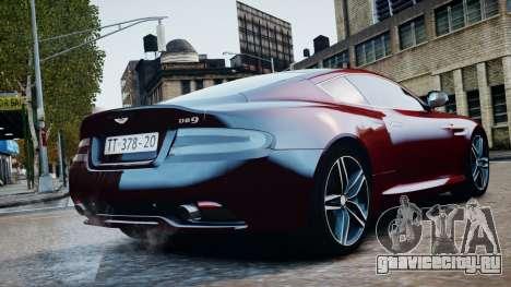 Aston Martin DB9 2013 для GTA 4 вид справа