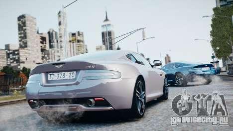 Aston Martin DB9 2013 для GTA 4 вид снизу