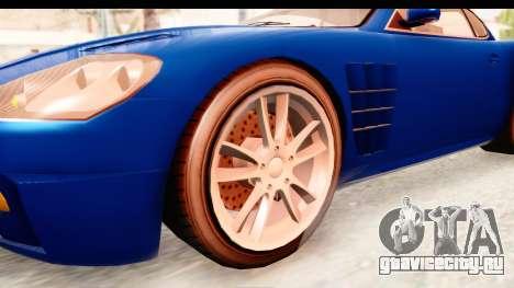 GTA EFLC TBoGT F620 v2 для GTA San Andreas вид сзади