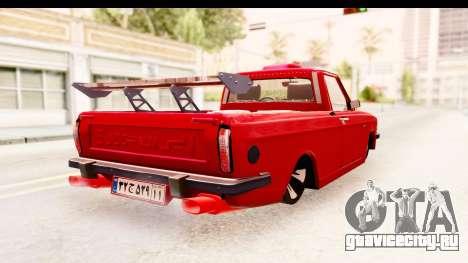 Peykan Pickup Full Sport Iranian для GTA San Andreas вид справа