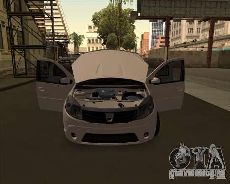 Dacia Logan Londero Misterios Urechiata для GTA San Andreas вид сзади слева