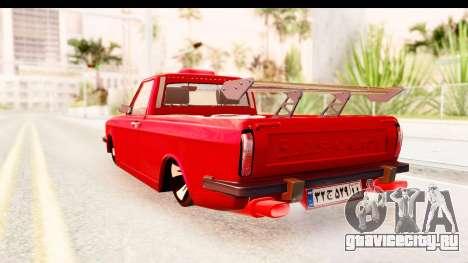 Peykan Pickup Full Sport Iranian для GTA San Andreas вид слева