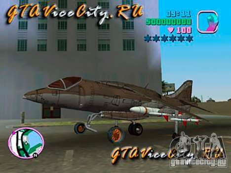 Harrier для GTA Vice City вид слева