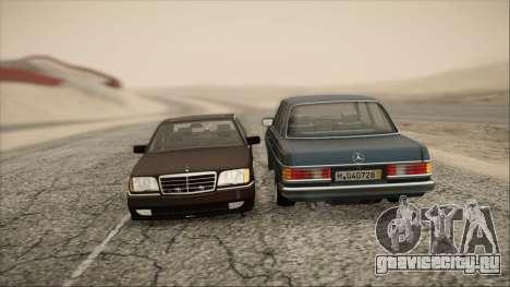 Mercedes-Benz s600 AMG для GTA San Andreas вид сзади