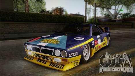 Lancia Rally 037 Stradale (SE037) 1982 Dirt PJ1 для GTA San Andreas вид сзади слева