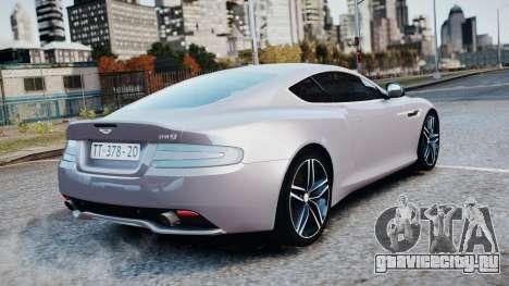 Aston Martin DB9 2013 для GTA 4 вид сбоку