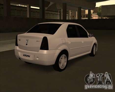Dacia Logan Londero Misterios Urechiata для GTA San Andreas вид слева