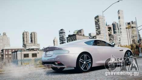 Aston Martin DB9 2013 для GTA 4 салон