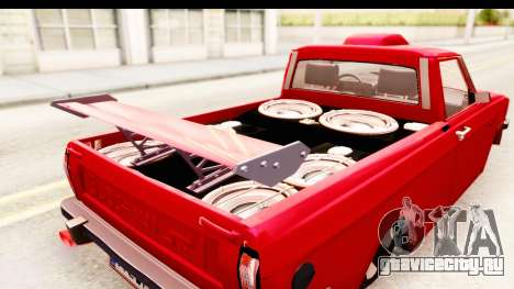 Peykan Pickup Full Sport Iranian для GTA San Andreas вид изнутри