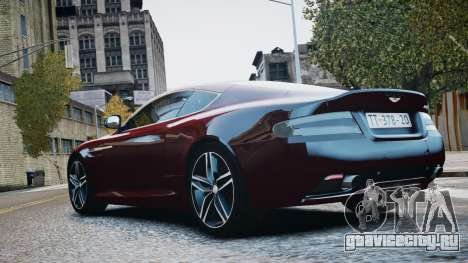 Aston Martin DB9 2013 для GTA 4 вид изнутри