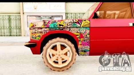 Huntley Sticker Bomb для GTA San Andreas вид сзади