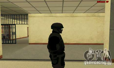 Скин FIB SWAT из GTA 5 для GTA San Andreas четвёртый скриншот