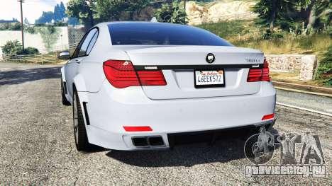 BMW 760Li (F02) Lumma CLR 750 [replace] для GTA 5 вид сзади слева