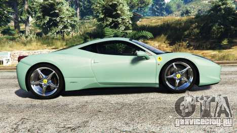 Ferrari 458 Italia [replace] для GTA 5 вид слева