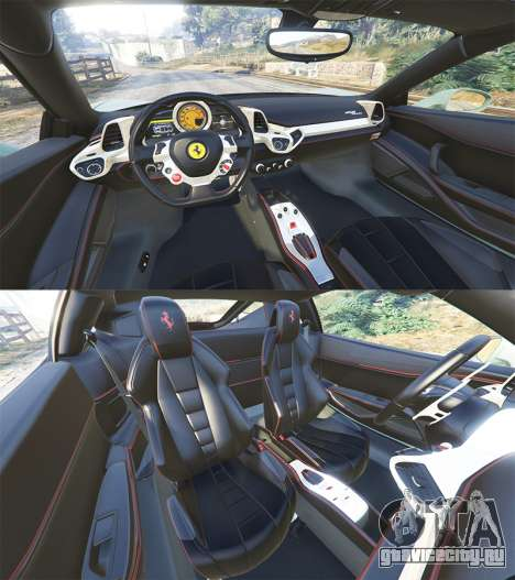 Ferrari 458 Italia [replace] для GTA 5 вид спереди справа