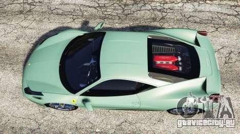 Ferrari 458 Italia [replace] для GTA 5 вид сзади