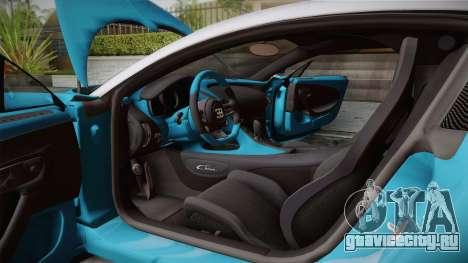 Bugatti Chiron 2017 v2.0 Dubai Plate для GTA San Andreas вид сзади