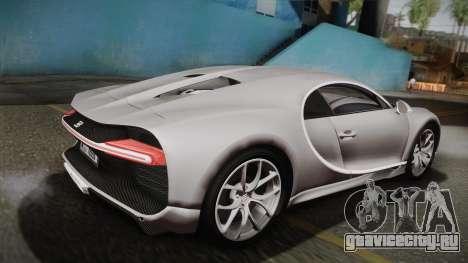 Bugatti Chiron 2017 v2.0 Dubai Plate для GTA San Andreas вид слева