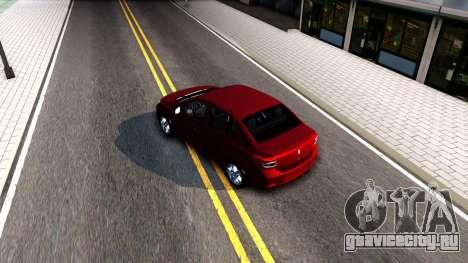 Renault Symbol 2013 для GTA San Andreas вид справа