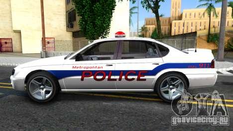 Declasse Merit Metropolitan Police 2005 для GTA San Andreas вид слева